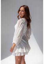 Белое коктейльное короткое платье