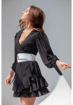 Черное легкое платье мини