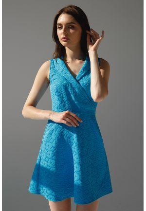 Лазурное платье мини