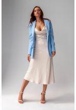 Шёлковое легкое платье цвета айвори