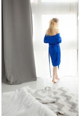 Шелковое платье-халат
