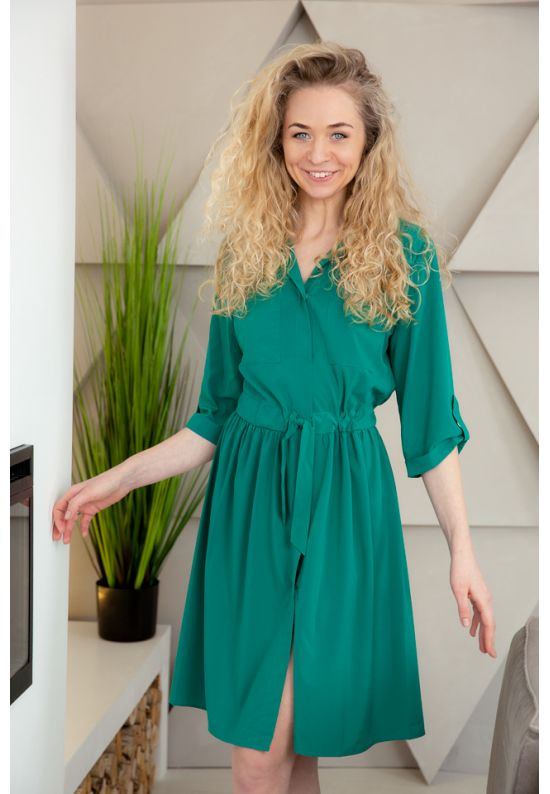 Уютное платье-рубашка для дома