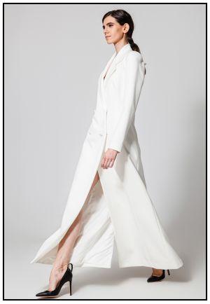 Белое платье-жакет