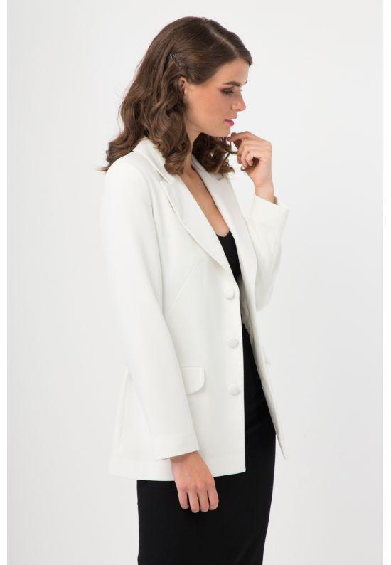 Белый стильный жакет