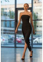 Черное платье - бюстье в пол