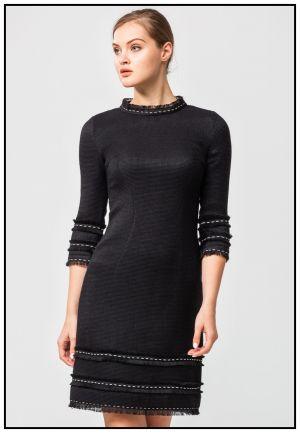 Черное платье из эксклюзивного жаккарда