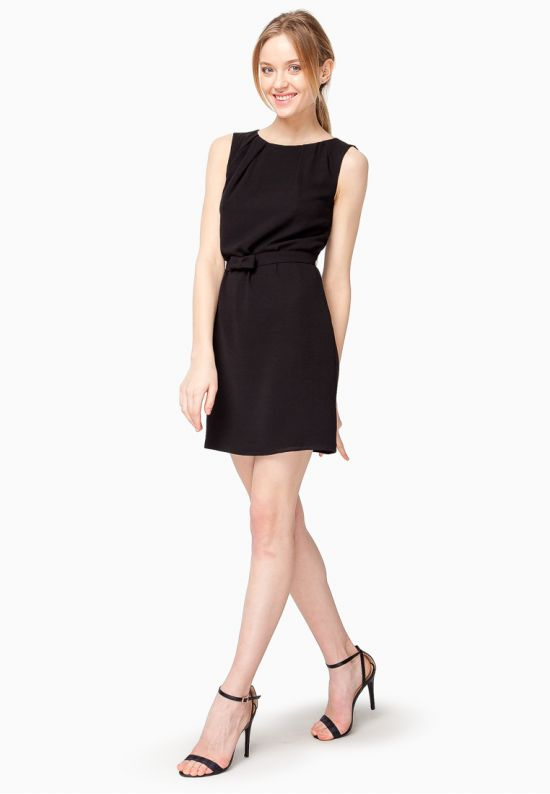 Черное платье мини