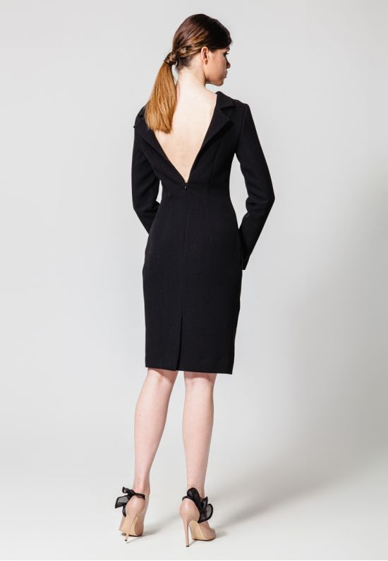 Черное платье-пиджак