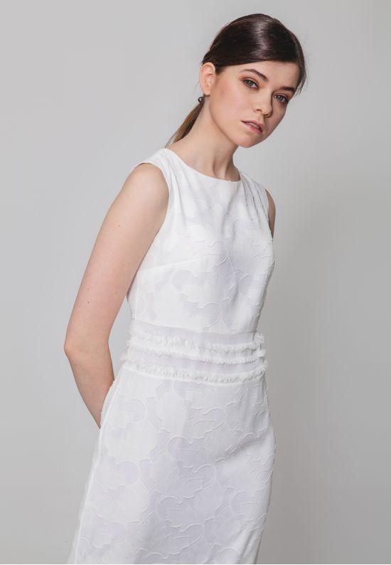 Длинное шифоновое платье