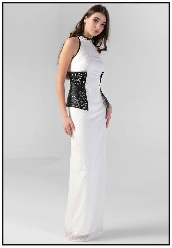 Эксклюзивное белое платье в пол
