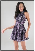 Эксклюзивное мини платье из жаккарда