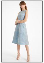 Эксклюзивное платье миди из жаккарда