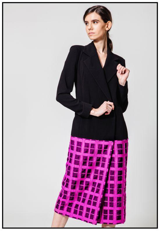 Эксклюзивное платье-жакет из жаккарда