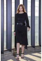Элегантное черное платье миди