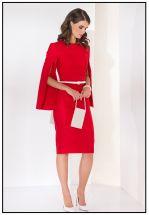 Элегантное красное платье миди