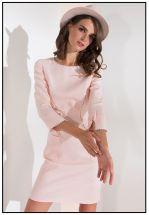 Элегантное платье в цвете пудра
