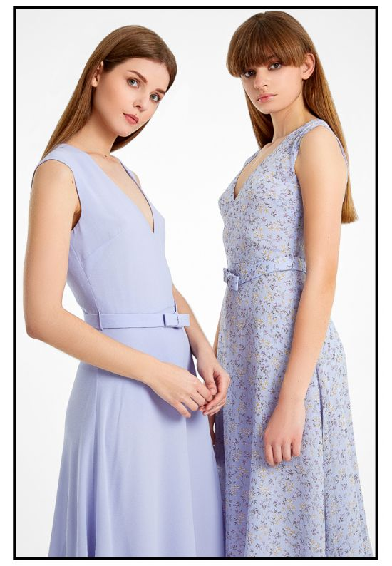 Фиалковое платье до колена