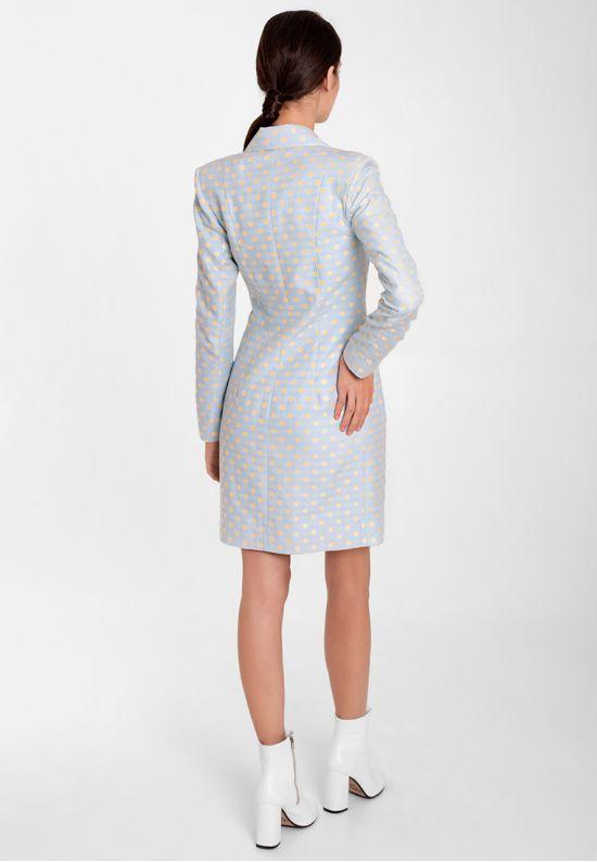 Голубое платье-жакет