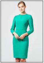 Изумрудное платье футляр