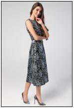 Коктейльное миди платье из жаккарда