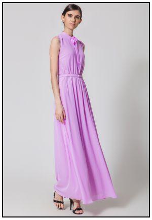 Коктейльное нежно-сиреневое платье