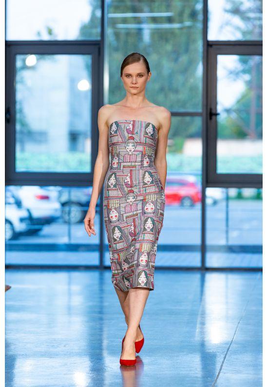 Коктейльное платье-бюстье по фигуре