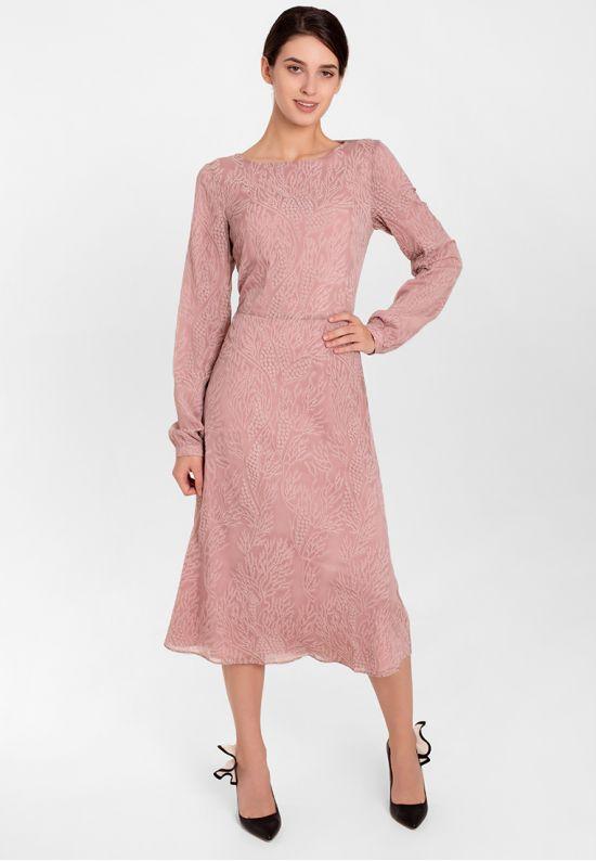 Коктейльное платье цвета пыльной розы