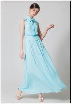 Коктейльное платье цвета Тиффани