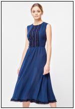 Коктейльное платье из шифона