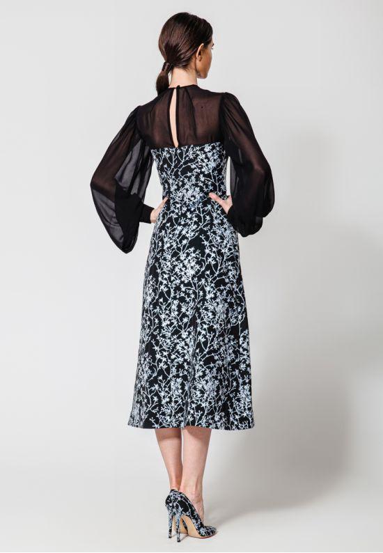 Коктейльное платье миди из жаккарда