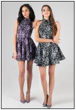 Коктейльное платье мини из жаккарда