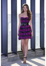 Коктейльное платье мини в цвете фуксия