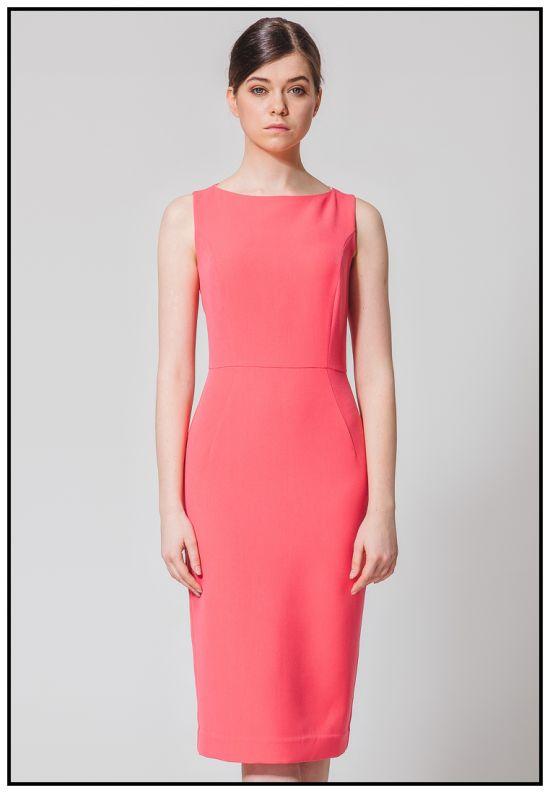 Коралловое платье - футляр