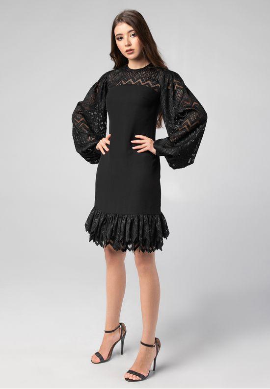 Красивое черное платье мини