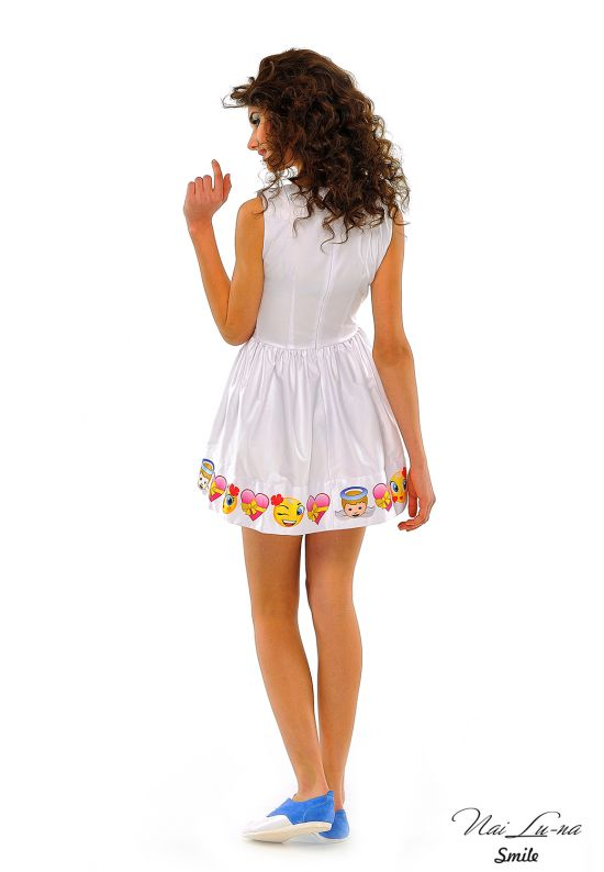 Легкое белое платье New Look
