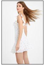 Легкое платье мини с открытой спиной