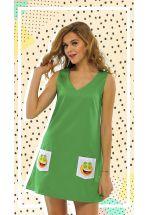 Летнее зеленое платье