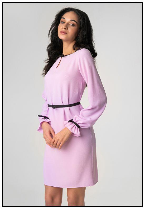 Нежное платье мини в лиловом цвете