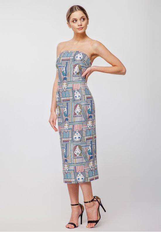 Облегающее платье-бюстье