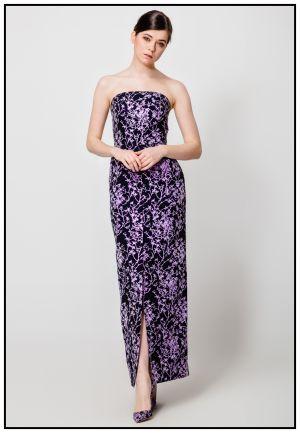 Платье-бюстье из жаккарда