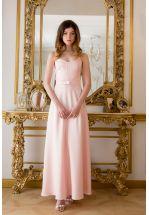 Платье длинное нежно-розовое