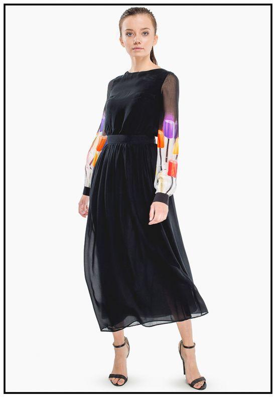 Платье из струящегося шифона