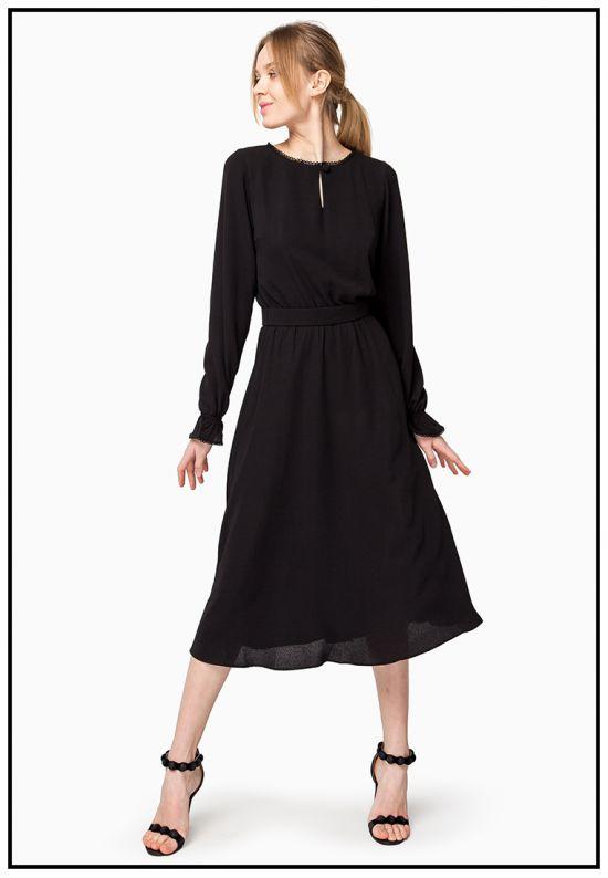 Платье из воздушного креп-шифона