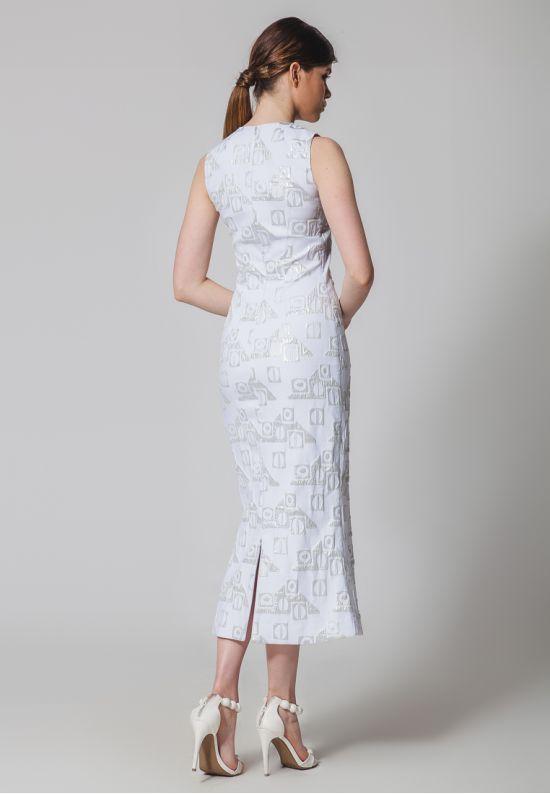 Платье из жаккарда миди