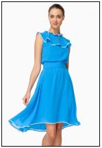Платье миди голубого цвета