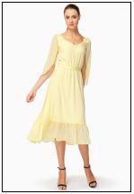 Платье миди из легкого шифона
