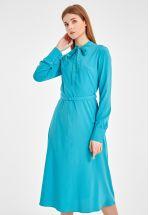 Платье миди из натуральной ткани