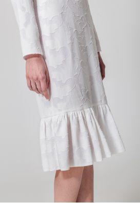 Платье миди из шифона