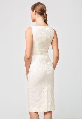 Платье миди из структурированного жаккарда