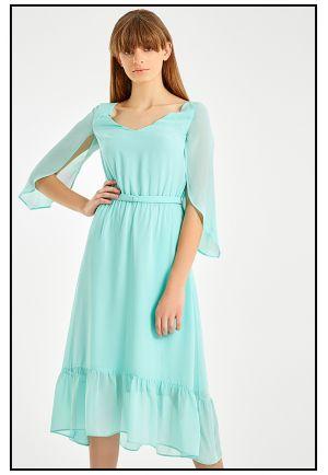 Платье миди из струящегося шифона